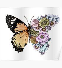 Butterfly in Bloom II Poster