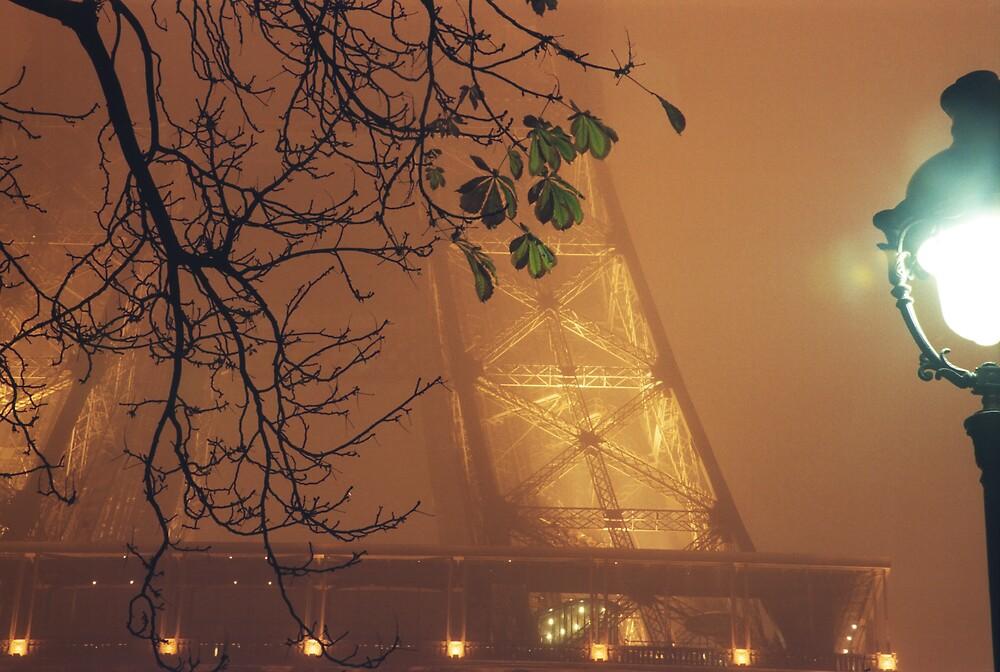 Fog over Tour Eiffel - Paris by Yves Roumazeilles