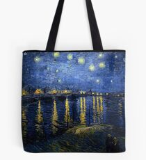 Starry Night Over the Rhone - Van Gogh Tote Bag
