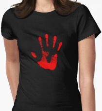 Red Right Hand Women's Fitted T-Shirt