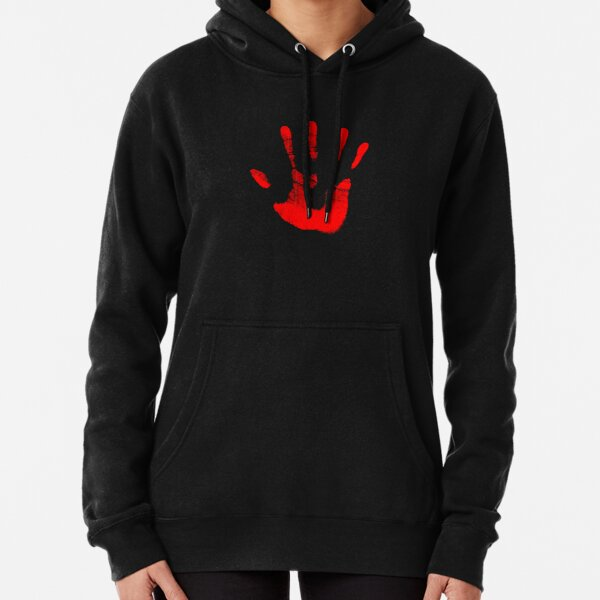 Red Right Hand Pullover Hoodie