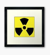 Atomic Danger Sign Framed Print