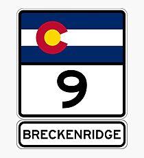 CO-9 Breckenridge Colorado - Road Sign Photographic Print