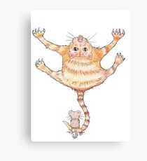 Ooch Ouch, Cat & Mouse! Canvas Print