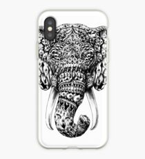 Verzierter Elefant Kopf iPhone-Hülle & Cover