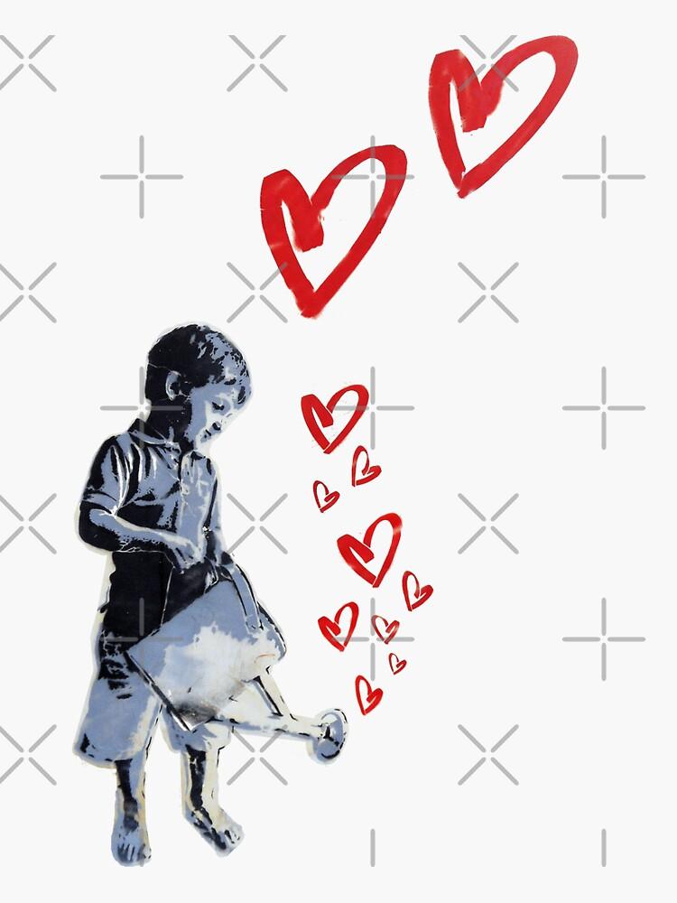 Banksy-style Urban Street Art: Child Love by ThisOnAShirt
