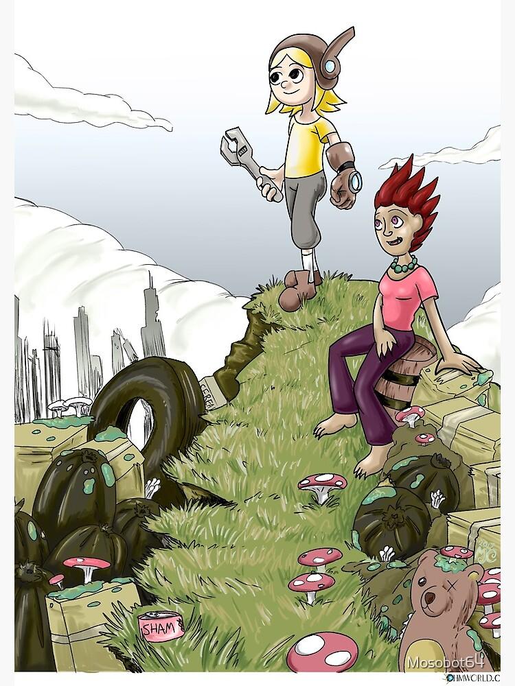Max and Lori at the Junkyard by Mosobot64