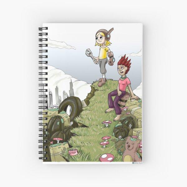Max and Lori at the Junkyard Spiral Notebook