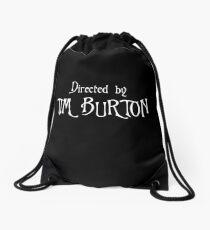 Directed by Tim Burton Drawstring Bag