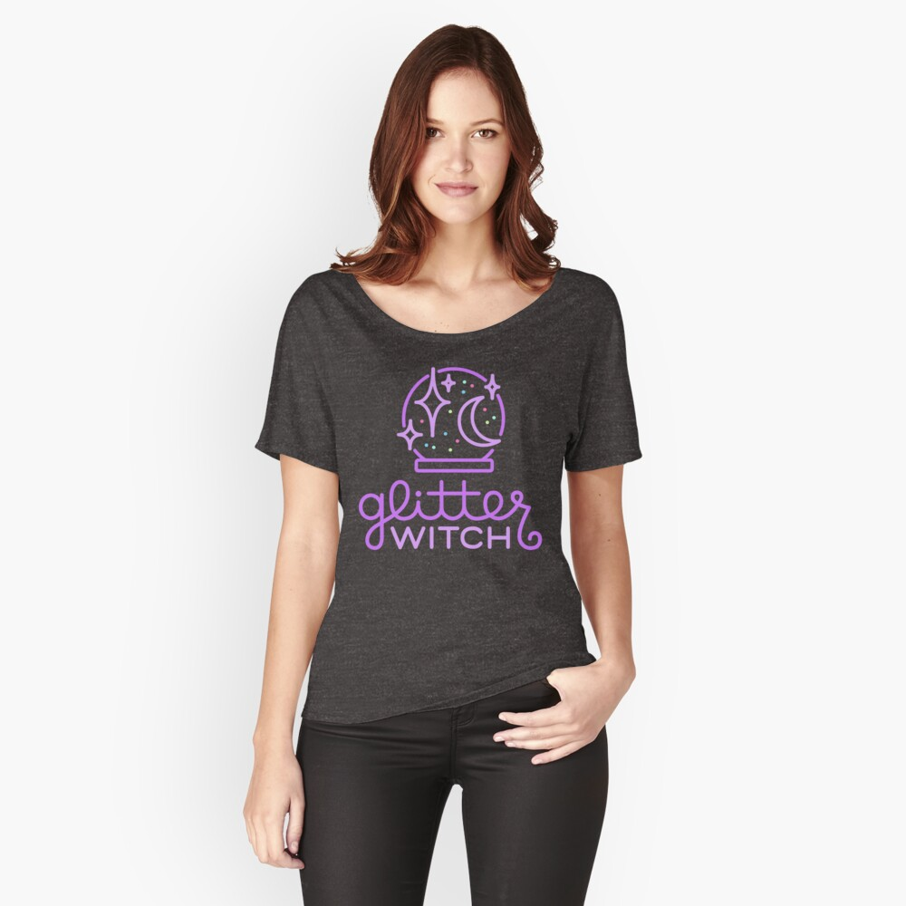 glitter witch Relaxed Fit T-Shirt
