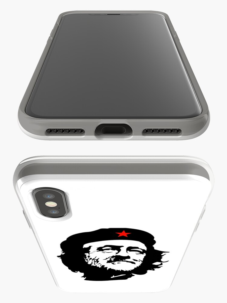 Alternative Ansicht von CORBYN, Comrade Corbyn, Election, Leader, Politics, Labour Party, Black on White iPhone-Hülle & Cover