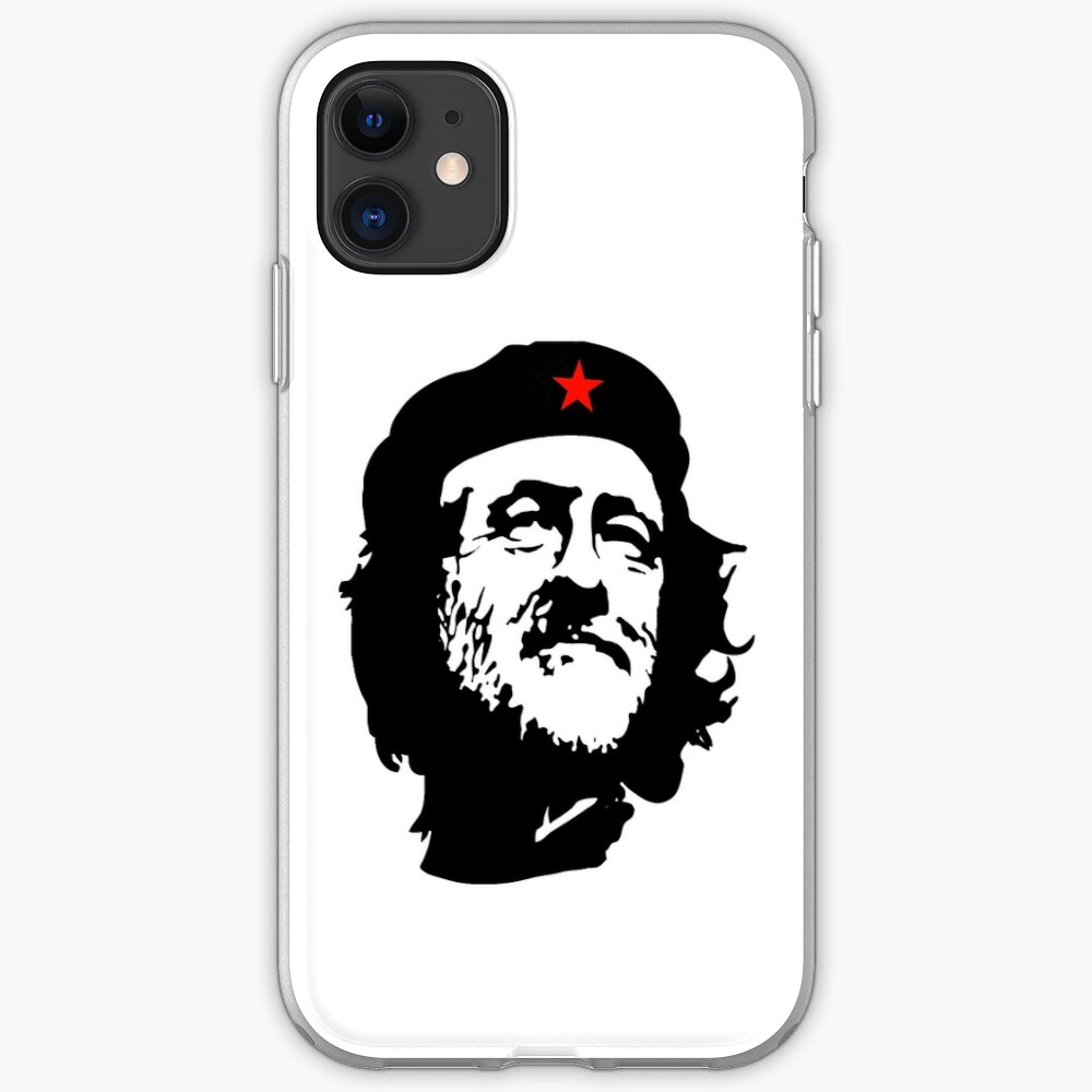 CORBYN, Comrade Corbyn, Election, Leader, Politics, Labour Party, Black on White iPhone-Hülle & Cover