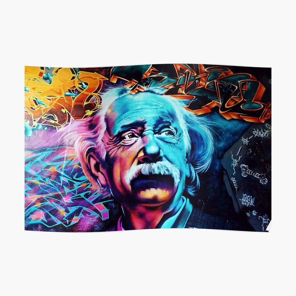 Urban Street Art: Albert Einstein Poster