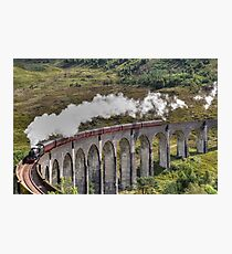 Jacobite Steam Train, Glenfinnan Viaduct, Scotland. Photographic Print