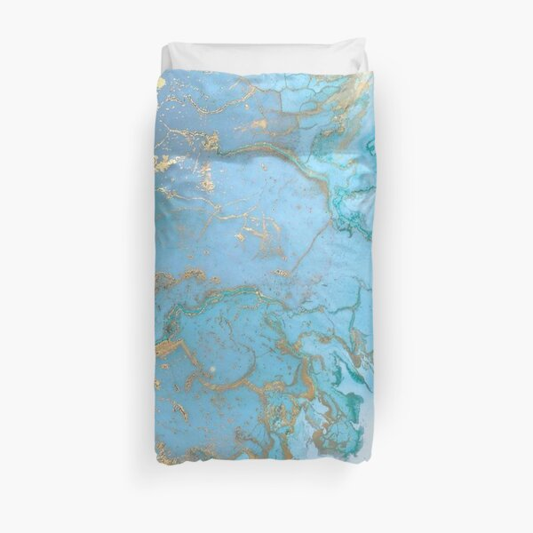 Marble and Gold Duvet Cover