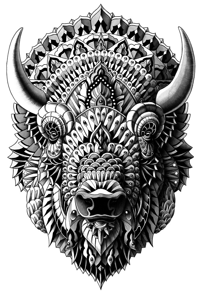 bison by bioworkz redbubble