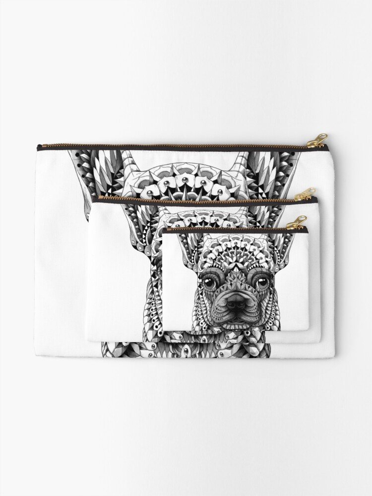 Alternate view of Frenchie (French Bulldog) Zipper Pouch