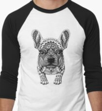 Camiseta ¾ bicolor para hombre Frenchie (Bulldog Francés)