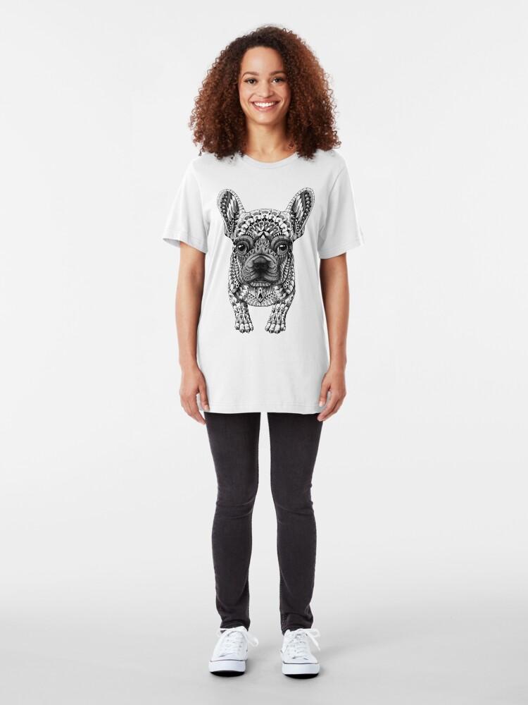Alternate view of Frenchie (French Bulldog) Slim Fit T-Shirt