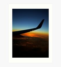 Sunset from a Plane Art Print