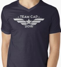 Team Cap 2016 Men's V-Neck T-Shirt