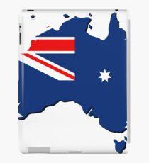 Australia map with flag iPad Case/Skin