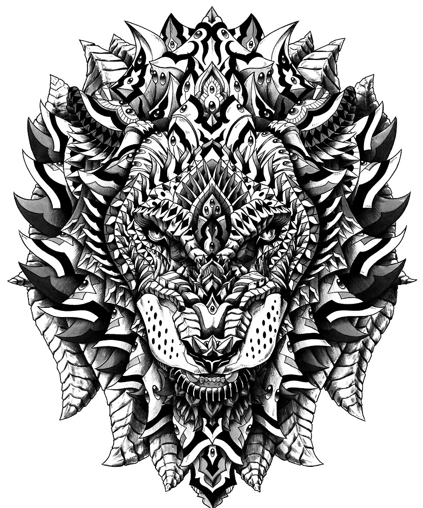 Quot Ornate Lion Quot By Bioworkz Redbubble