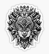 Ornate Lion Sticker
