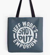 Imagine the size of his balls! Jeff Wode dark grey Tote Bag