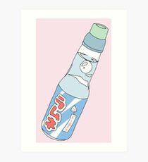 Lámina artística Kawaii Soda Drink (* color de fondo personalizable)