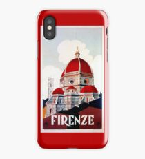 Florence Firenze 1920s Italian travel ad, duomo iPhone Case/Skin