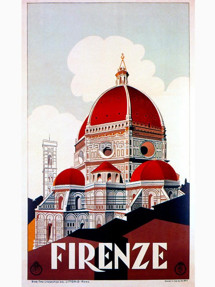 Florence Firenze 1920er Jahre italienische Reiseanzeige, Duomo von aapshop