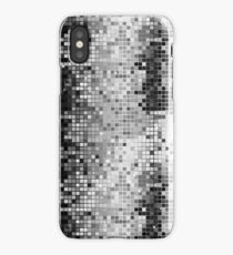 Metallic Silver Gray Sequins Look-Disco Ball Pattern iPhone Case/Skin