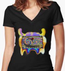 Acid tape Alien Women's Fitted V-Neck T-Shirt