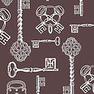Skeleton Keys Poster Print by Zehda