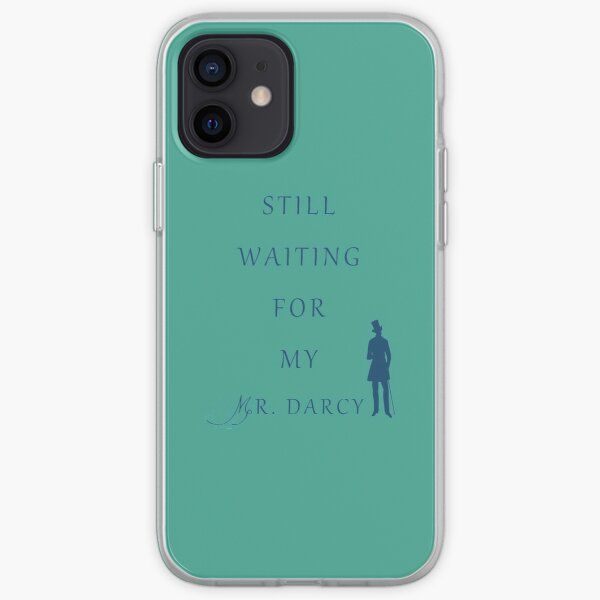 Waiting For My Darcy - Blue iPhone Soft Case
