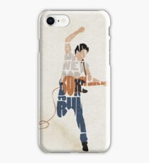 Typographic and Minimalist Bruce Springsteen Illustration iPhone Case/Skin