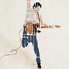 Typographic and Minimalist Bruce Springsteen Illustration by A Deniz Akerman