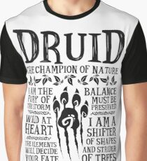 DRUID, THE CHAMPION OF NATURE - Dungeons & Dragons (Black) Graphic T-Shirt