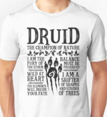 DRUID, THE CHAMPION OF NATURE - Dungeons & Dragons (Black) Unisex T-Shirt