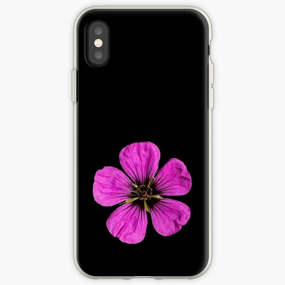Pink Geranium flower iPhone Case & Cover