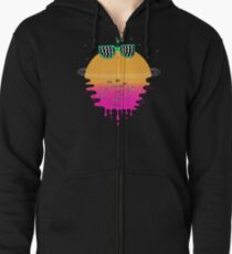 Happy Sunset Zipped Hoodie