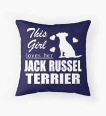 This Girls Loves Her Jack Russel Terrier Throw Pillow