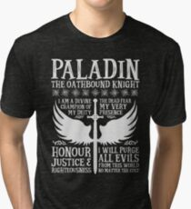 PALADIN, THE OATHBOUND KNIGHT- Dungeons & Dragons (White) Tri-blend T-Shirt