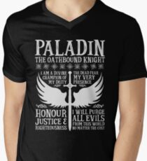 PALADIN, THE OATHBOUND KNIGHT- Dungeons & Dragons (White) Men's V-Neck T-Shirt