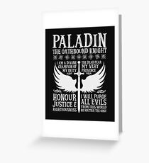 PALADIN, THE OATHBOUND KNIGHT- Dungeons & Dragons (White) Greeting Card