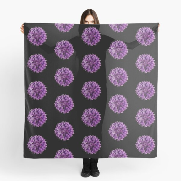 Purple cornflower Scarf