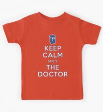 Keep Calm She's The Doctor Kids Clothes