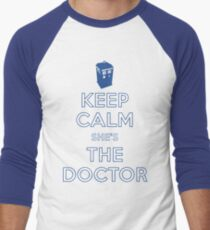 Keep Calm She's The Doctor Men's Baseball ¾ T-Shirt