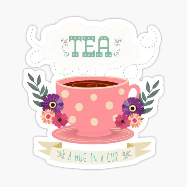 Tea - A Hug In A Cup Sticker